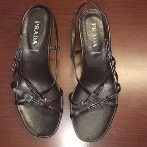 Prada Vintage Brown strappy sandals
